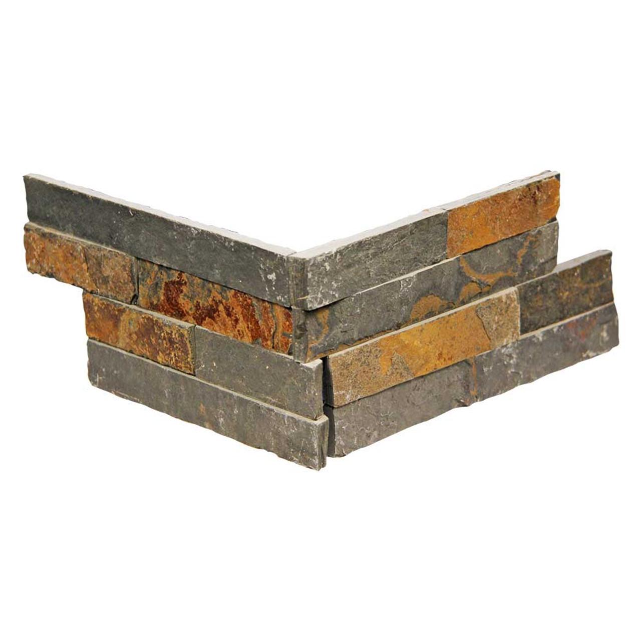 pacific slim brick multi stone tile corner