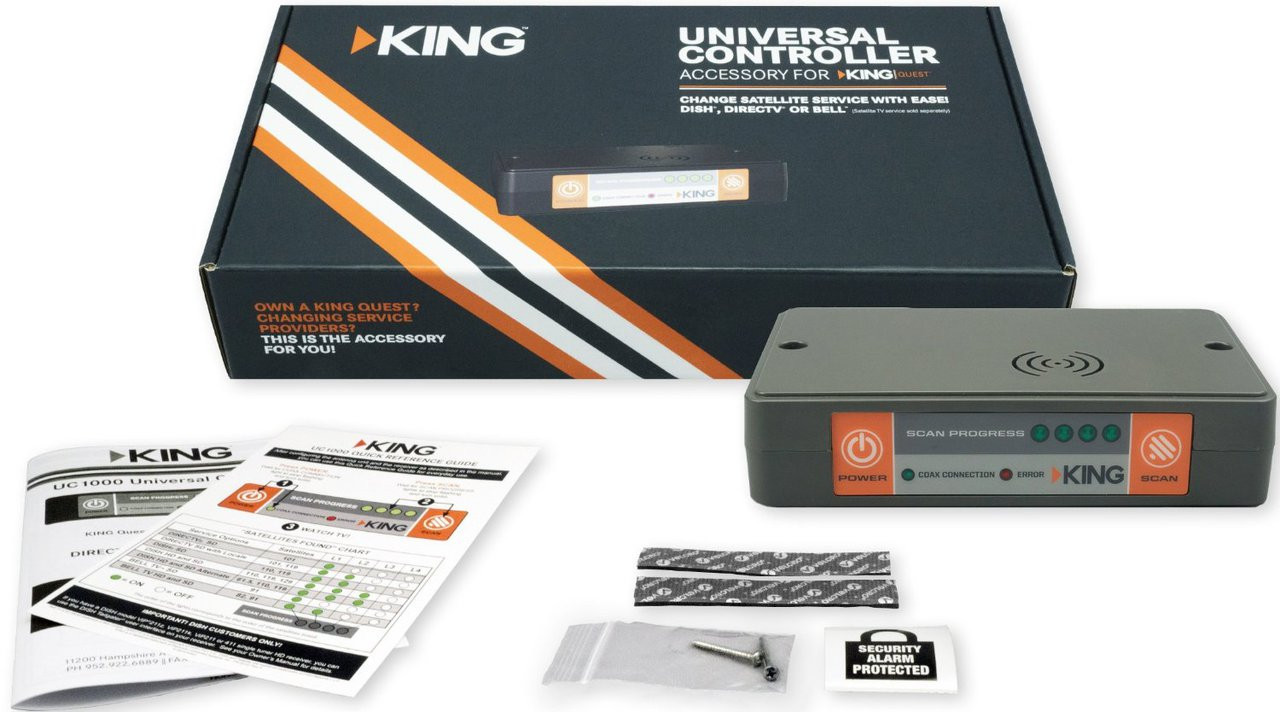 hight resolution of  king uc1000 universal controller for king quest portable satellite antenna complete package