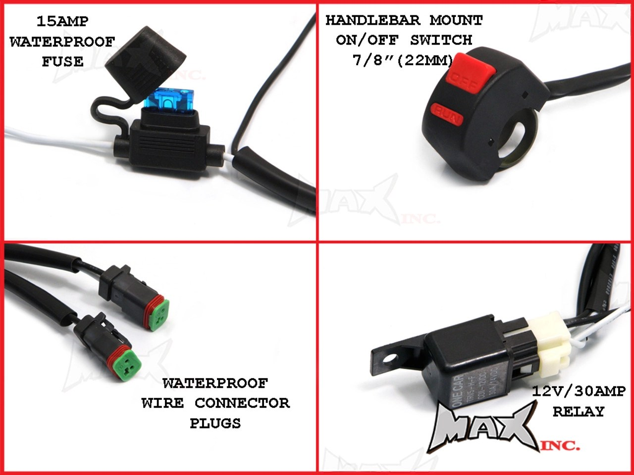 hight resolution of motorcycle universal 18w cree led spot driving lights complete wiring kit plug n