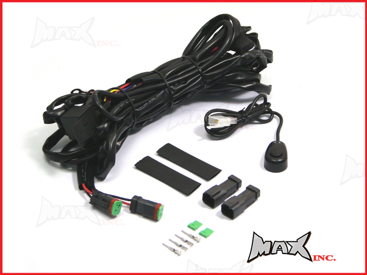 small resolution of complete universal car spot fog light wiring kit plug n play