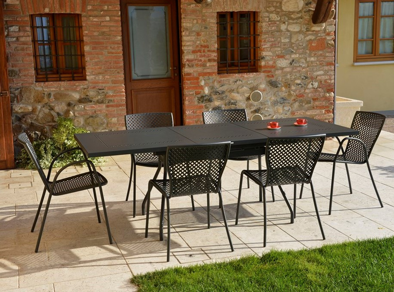 estate extendable table patio set with 8 chairs