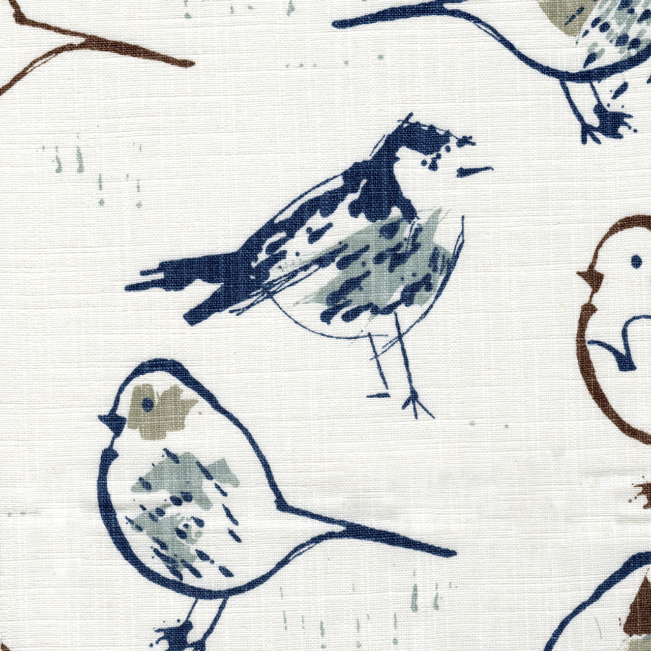 shower curtain in bird toile regal blue chinoiserie