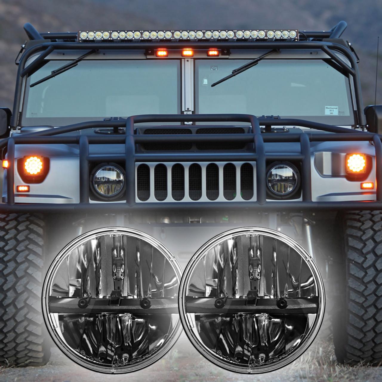 truck lite led headlight wiring diagram 3 phase motor diagrams 1992 2004 hummer h1 kit 27270c