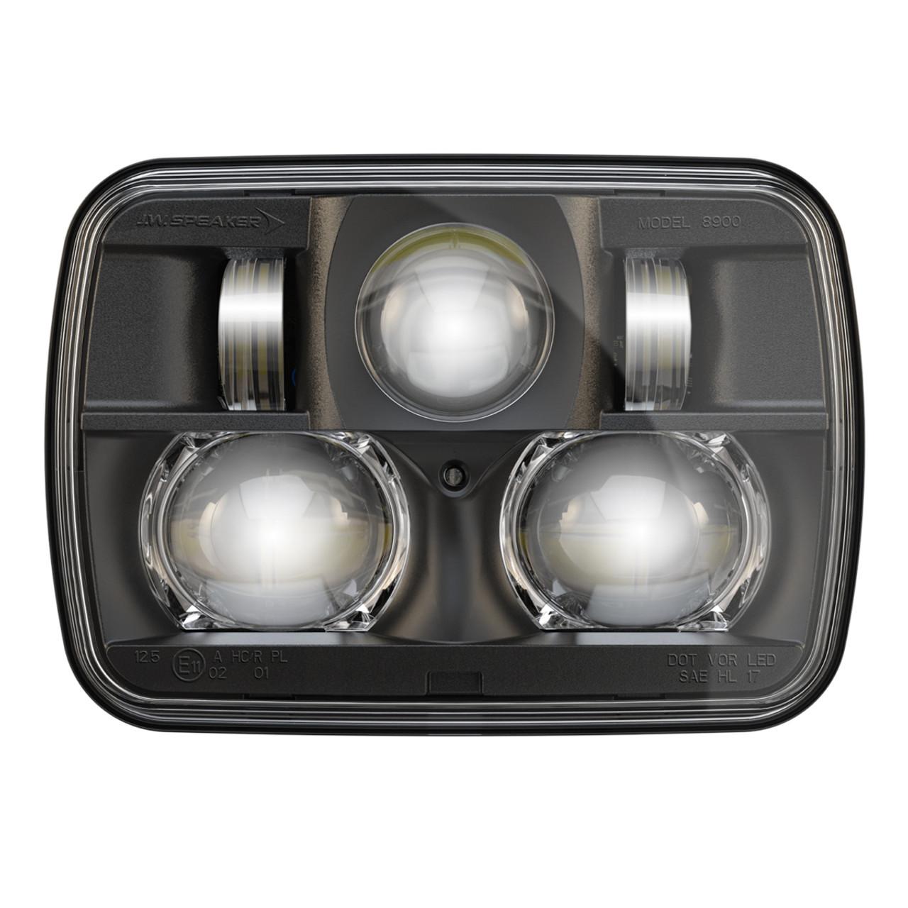 jw speaker 8900 evolution 2 dual beam 5 x 7 black headlight [ 1280 x 1280 Pixel ]