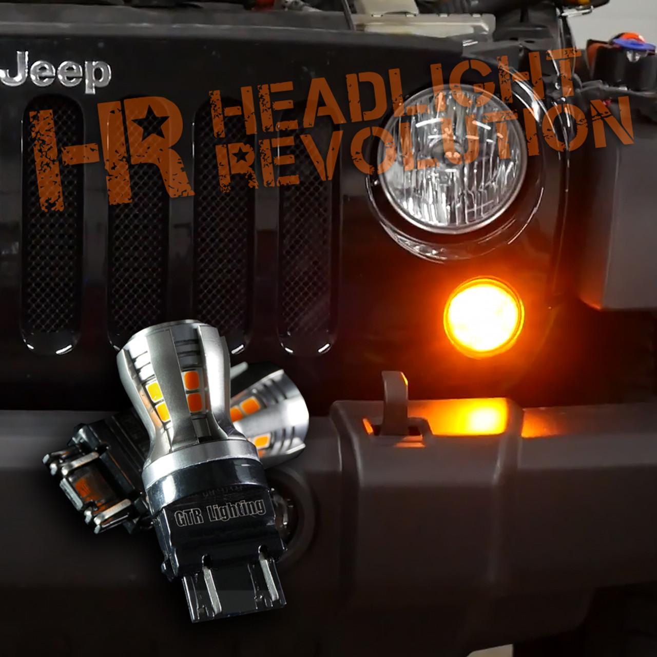 2007 2017 jeep jk front turn signal led upgrade kit [ 900 x 900 Pixel ]