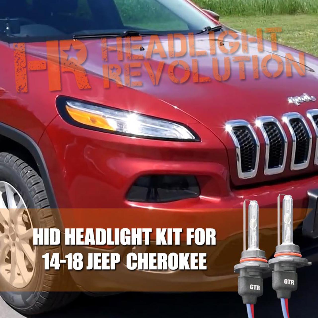 jeep cherokee hid headlight upgrade [ 1280 x 1280 Pixel ]