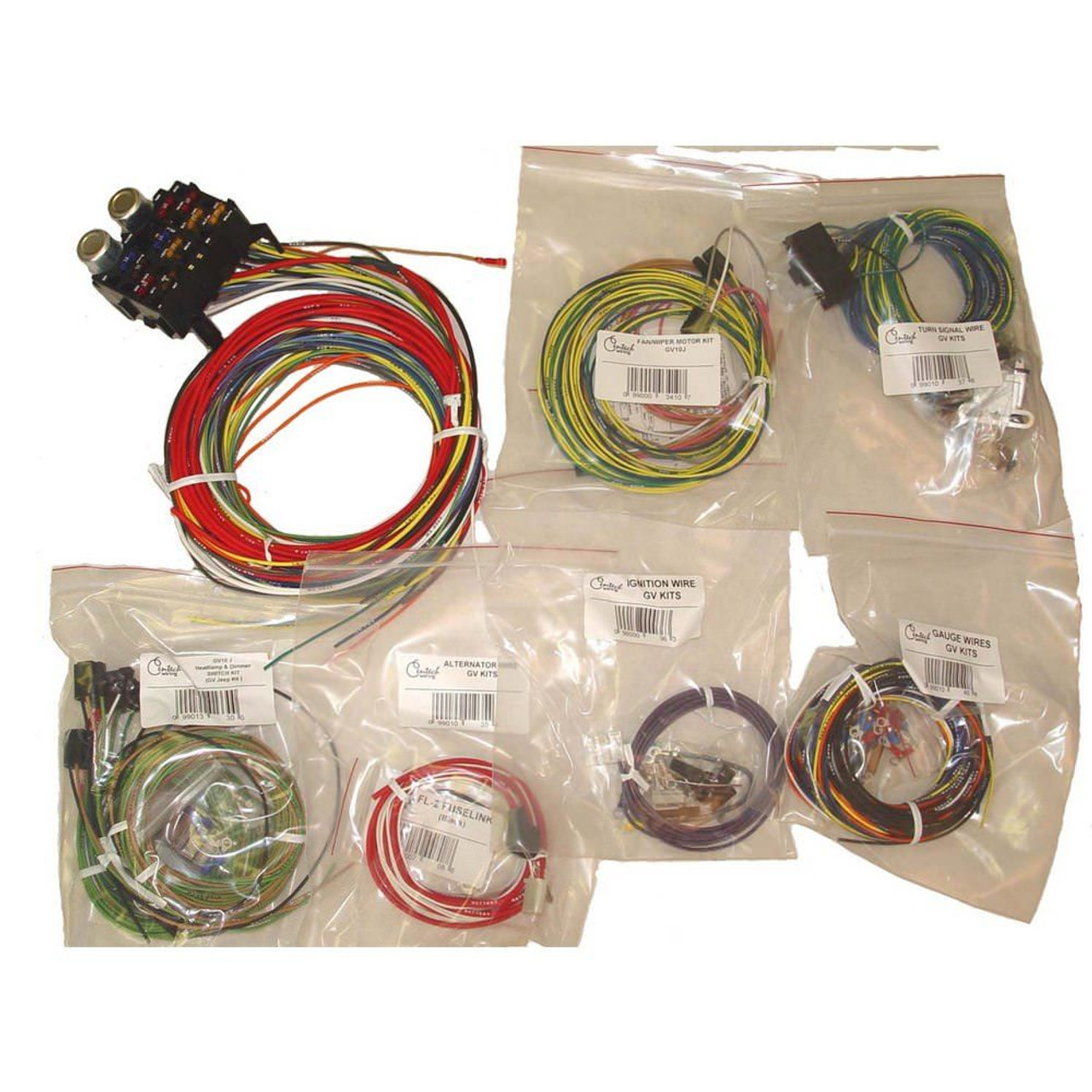 medium resolution of  17203 01 centech wiring harness 55 86 jeep cj