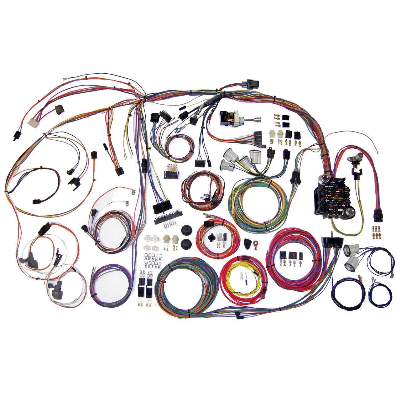american autowire 1970 1972 chevrolet chevelle el camino classic 19701972 chevelle complete wiring harness kit 19701972 chevelle [ 1280 x 1280 Pixel ]