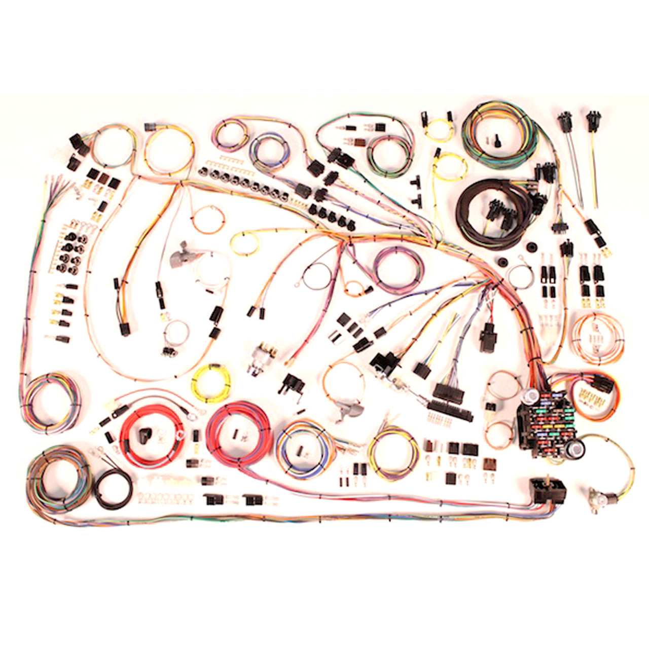 hight resolution of american autowire 1965 chevrolet impala classic update complete wiring harness for 1965 chevy impala