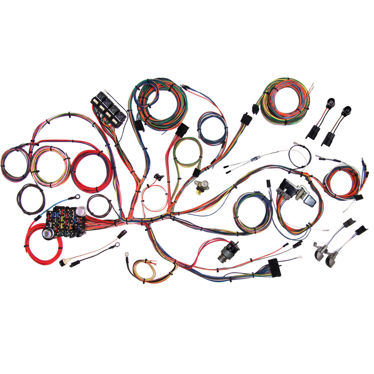 hight resolution of american autowire 1964 1966 ford mustang classic update complete wiring kit ame
