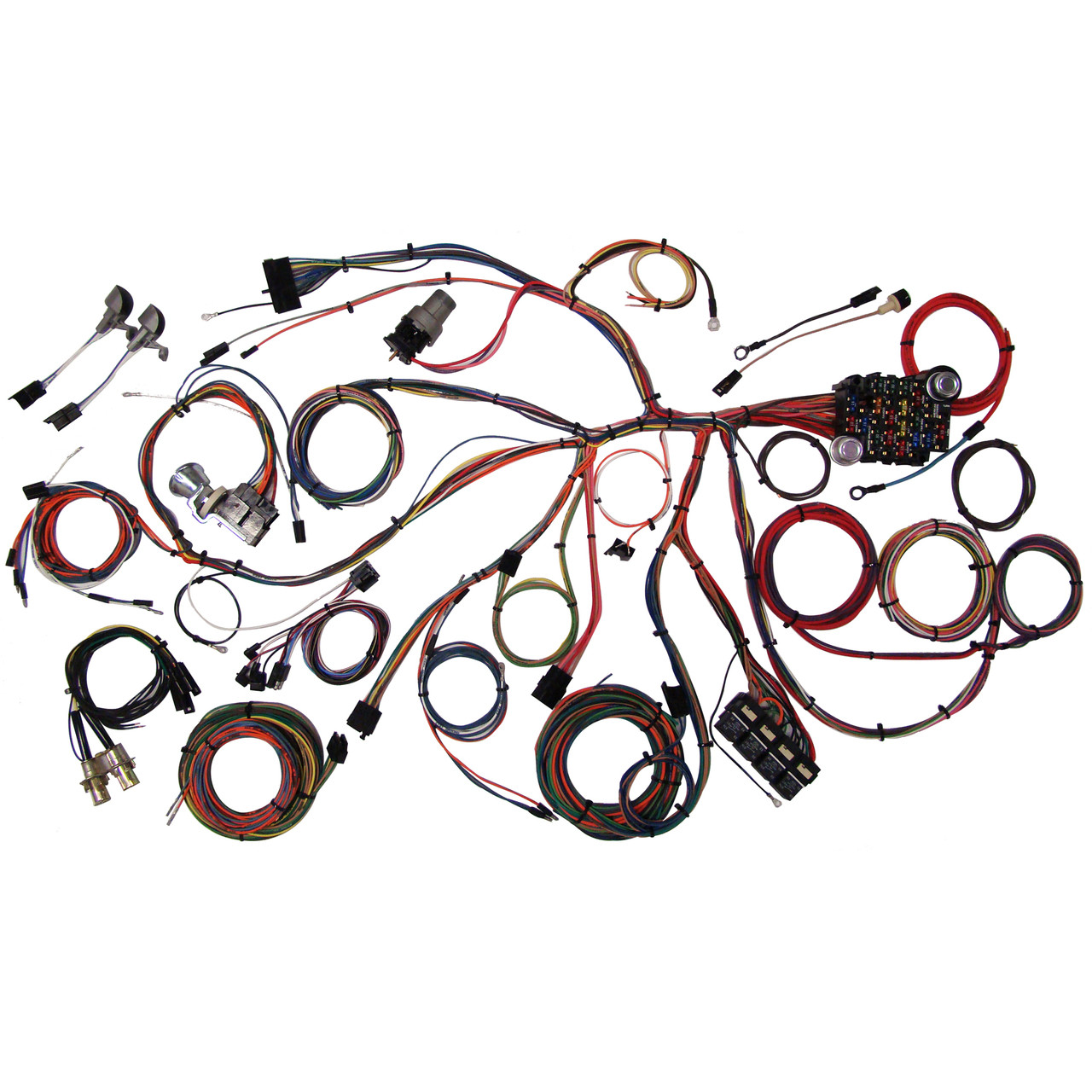small resolution of american autowire 1967 1968 ford mustang classic update complete ford wiring harness by american autowire