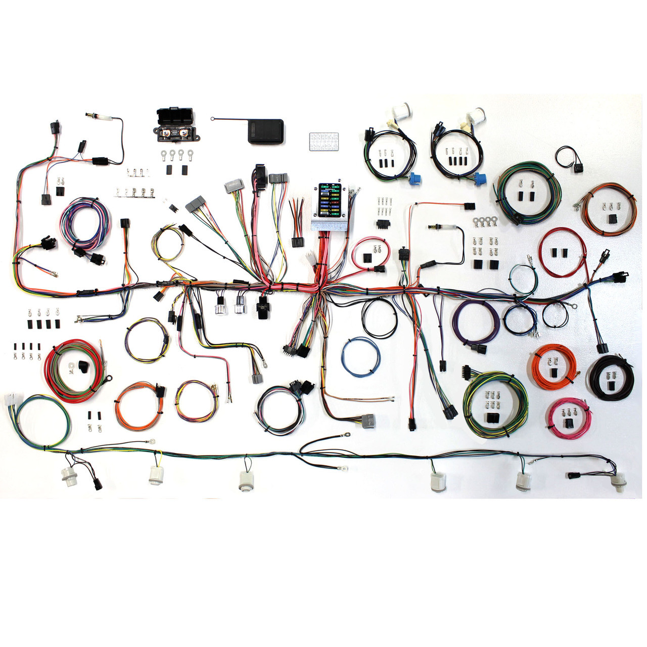 hight resolution of american autowire 1987 1989 ford mustang fox body classic update complete wiring kit