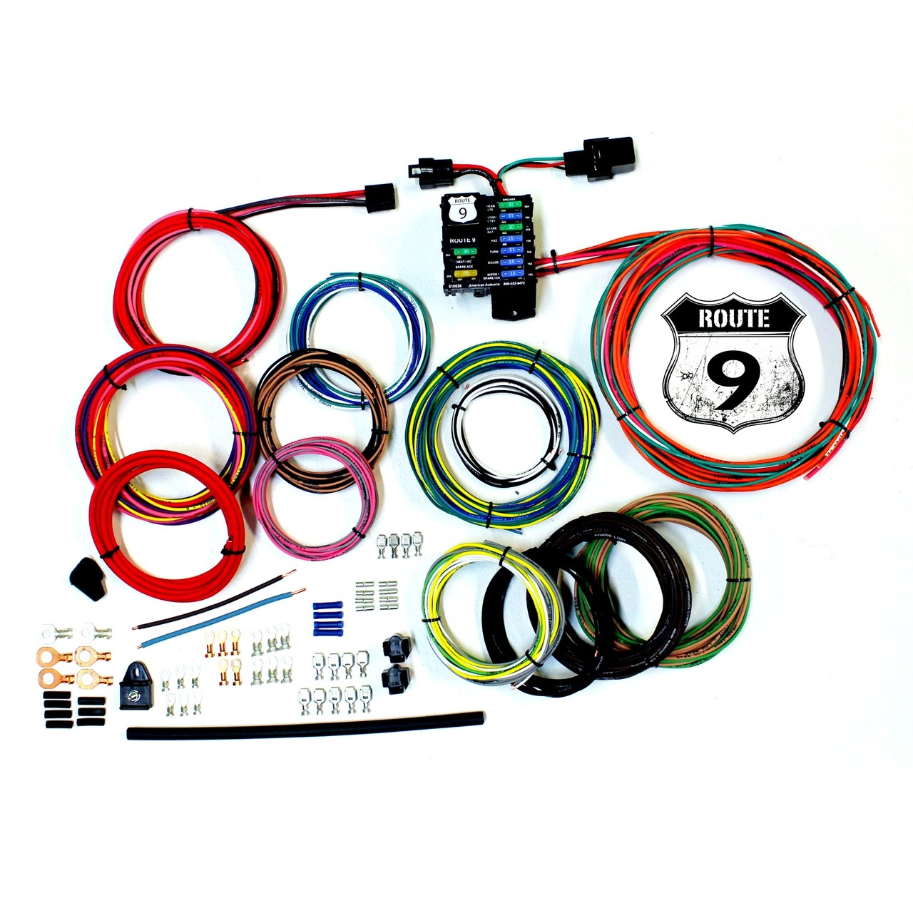 small resolution of american autowire route 9 universal wiring kit so cal speed shop az aftermarket wiring kits american autowire toggle turn signal switch