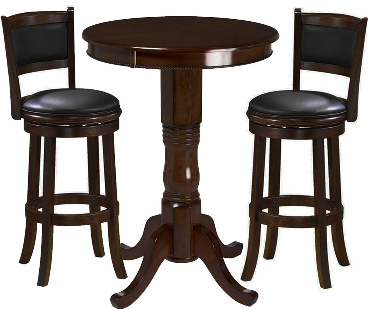 pub table and chairs 3 piece set 2 chair covers for hire auckland ram cappuccino ozone billiards