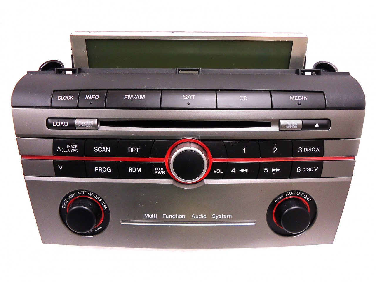 mazda 3 radio stereo 6 disc changer cd player sat multi function audio system br9k66arx bose  [ 1280 x 960 Pixel ]