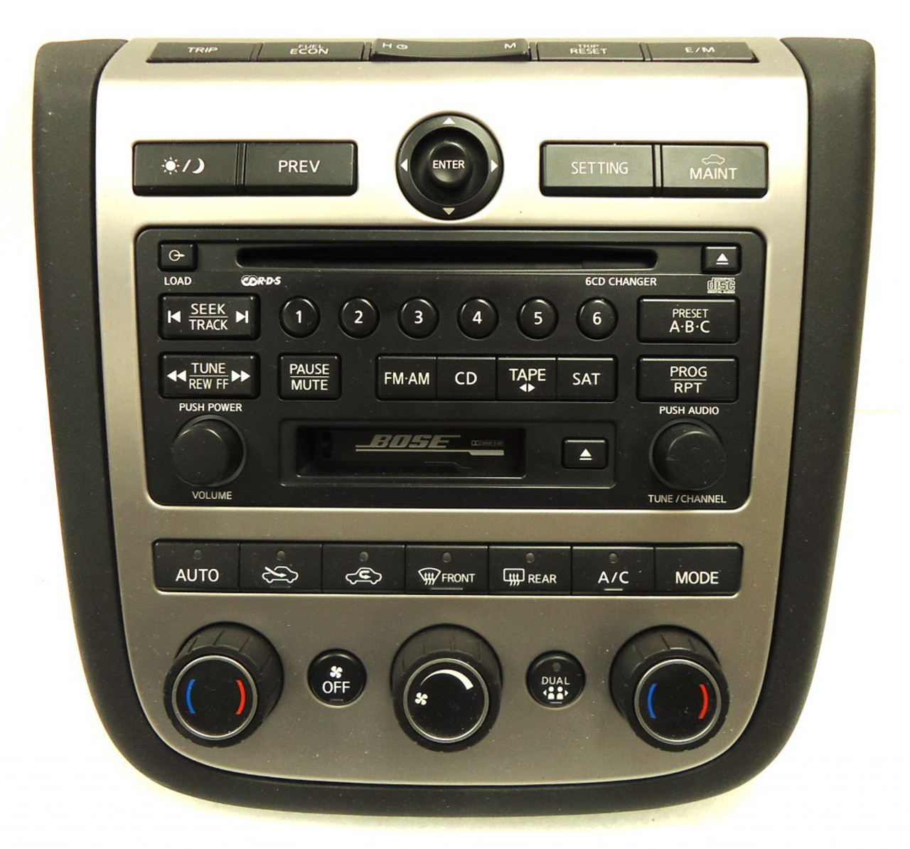 03 04 05 nissan murano bose radio stereo 6 disc changer cd player sat rds a  [ 1010 x 942 Pixel ]