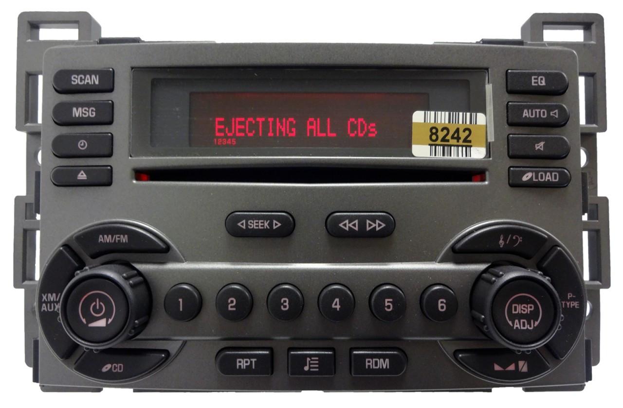 pontiac radio 6 disc cd changer player rds xm sat oem  [ 1280 x 840 Pixel ]