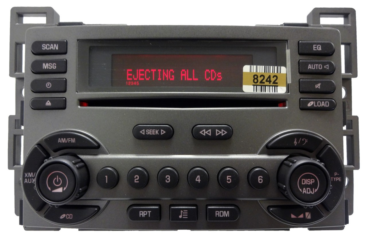 hight resolution of  pontiac radio 6 disc cd changer player rds xm sat oem
