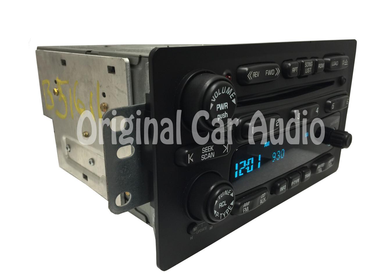 medium resolution of  chevy gmc radio 6 disc cd changer stereo aux oem