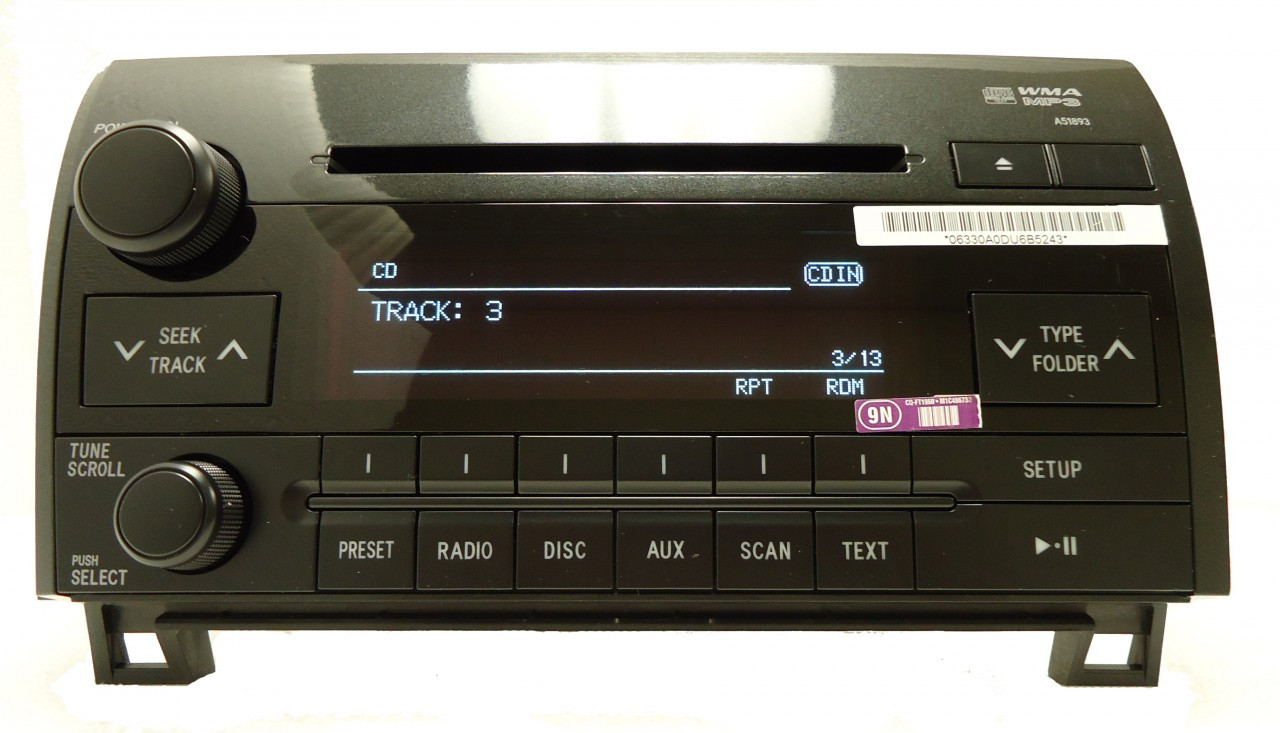 2007 2008 2009 2010 2011 toyota tundra sequoia radio stereo mp3 cd player a51893  [ 1280 x 733 Pixel ]