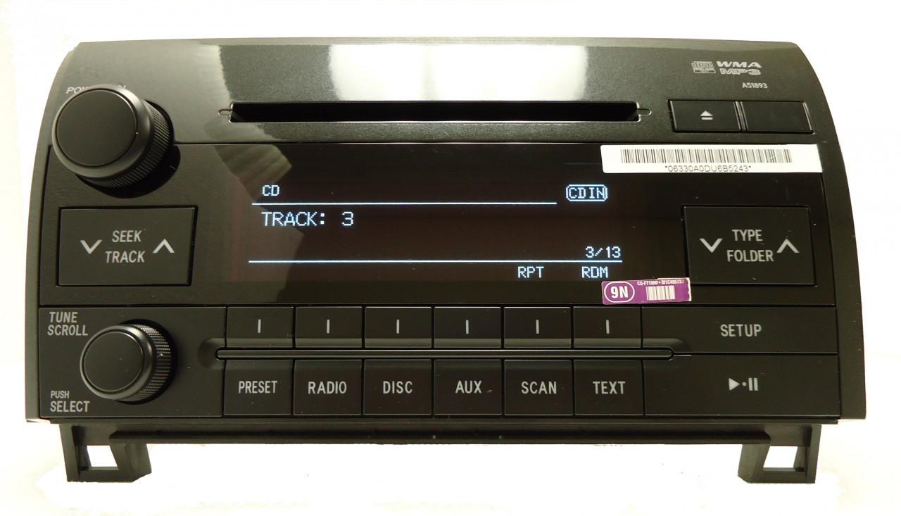 medium resolution of 2007 2008 2009 2010 2011 toyota tundra sequoia radio stereo mp3 cd player a51893