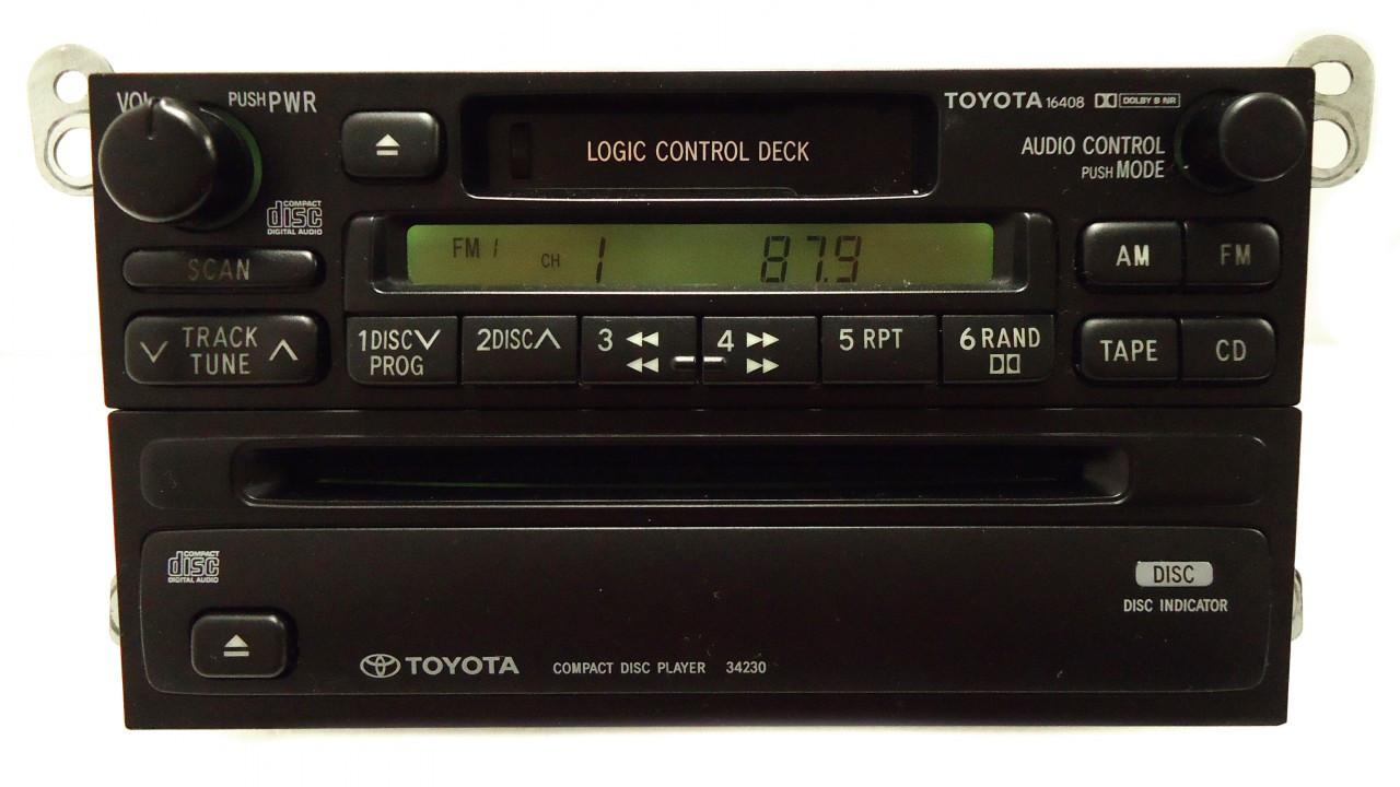 toyota am fm radio cassette tape cd player a56409 16408 34230 t9200 4runner avalon camry celica  [ 1280 x 720 Pixel ]