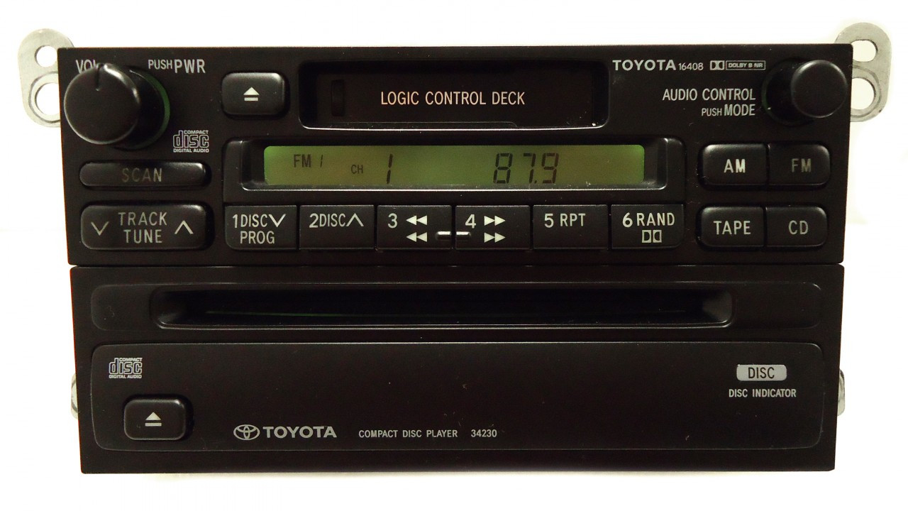small resolution of  toyota am fm radio cassette tape cd player a56409 16408 34230 t9200 4runner avalon camry celica