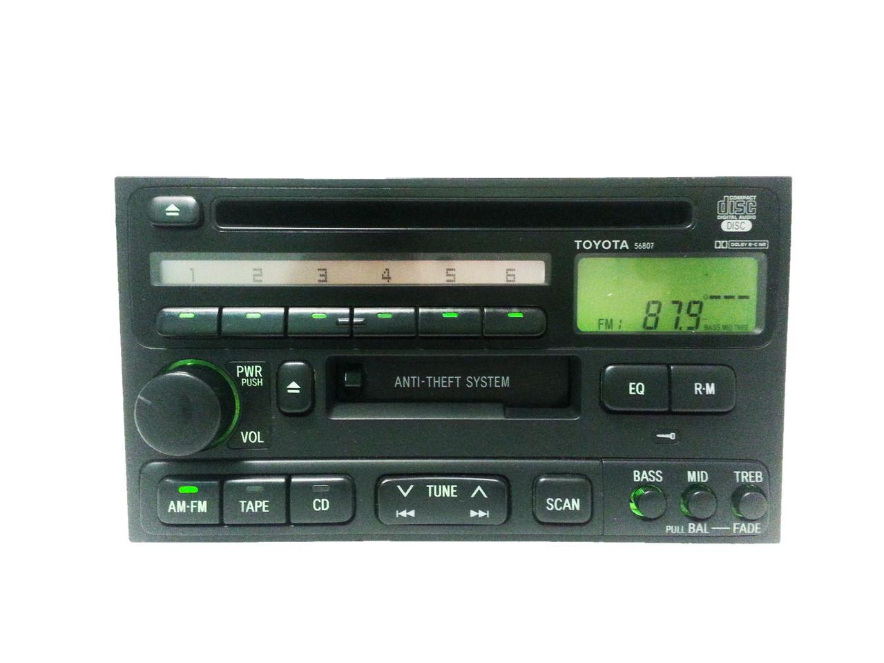 hight resolution of toyota factory oem radio tape and cd player 4runner avalon camry celica land cruiser solara sienna 56807 86120 33040 1990 1991 1992 1993 1994 1995 1996