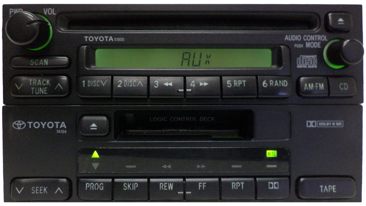 medium resolution of  toyota am fm radio cd player 51800 4runner avalon camry celica mr2 seuoia solara sienna tacoma