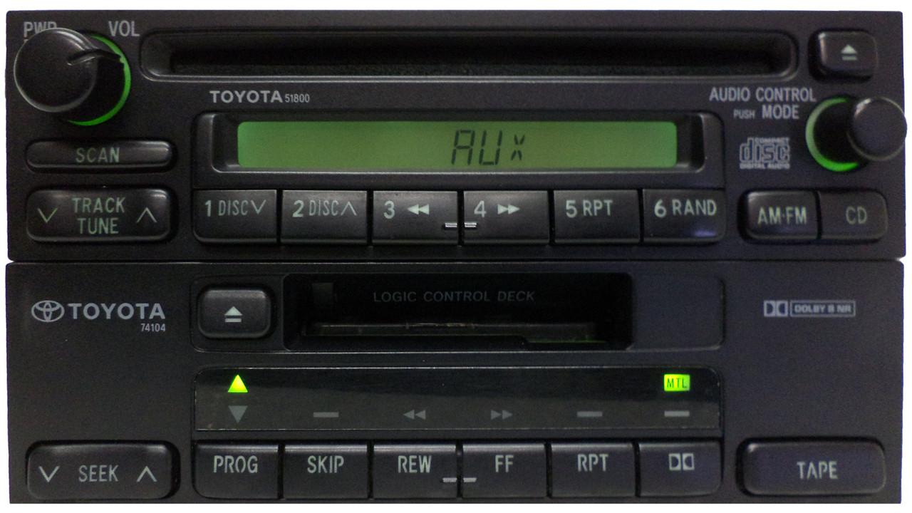 small resolution of  toyota am fm radio cd player 51800 4runner avalon camry celica mr2 seuoia solara sienna tacoma
