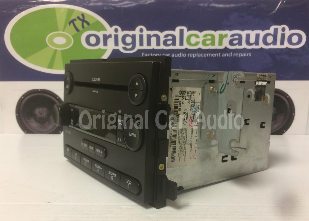 medium resolution of  2005 2006 2007 ford focus f250 f350 factory oem radio mp3 6 disc cd changer