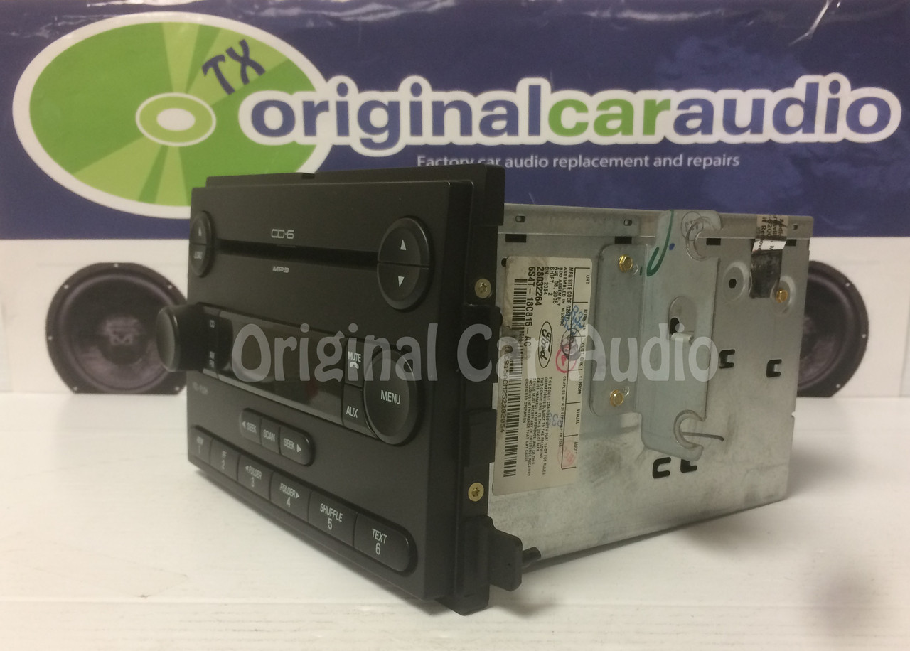 small resolution of  2005 2006 2007 ford focus f250 f350 factory oem radio mp3 6 disc cd changer