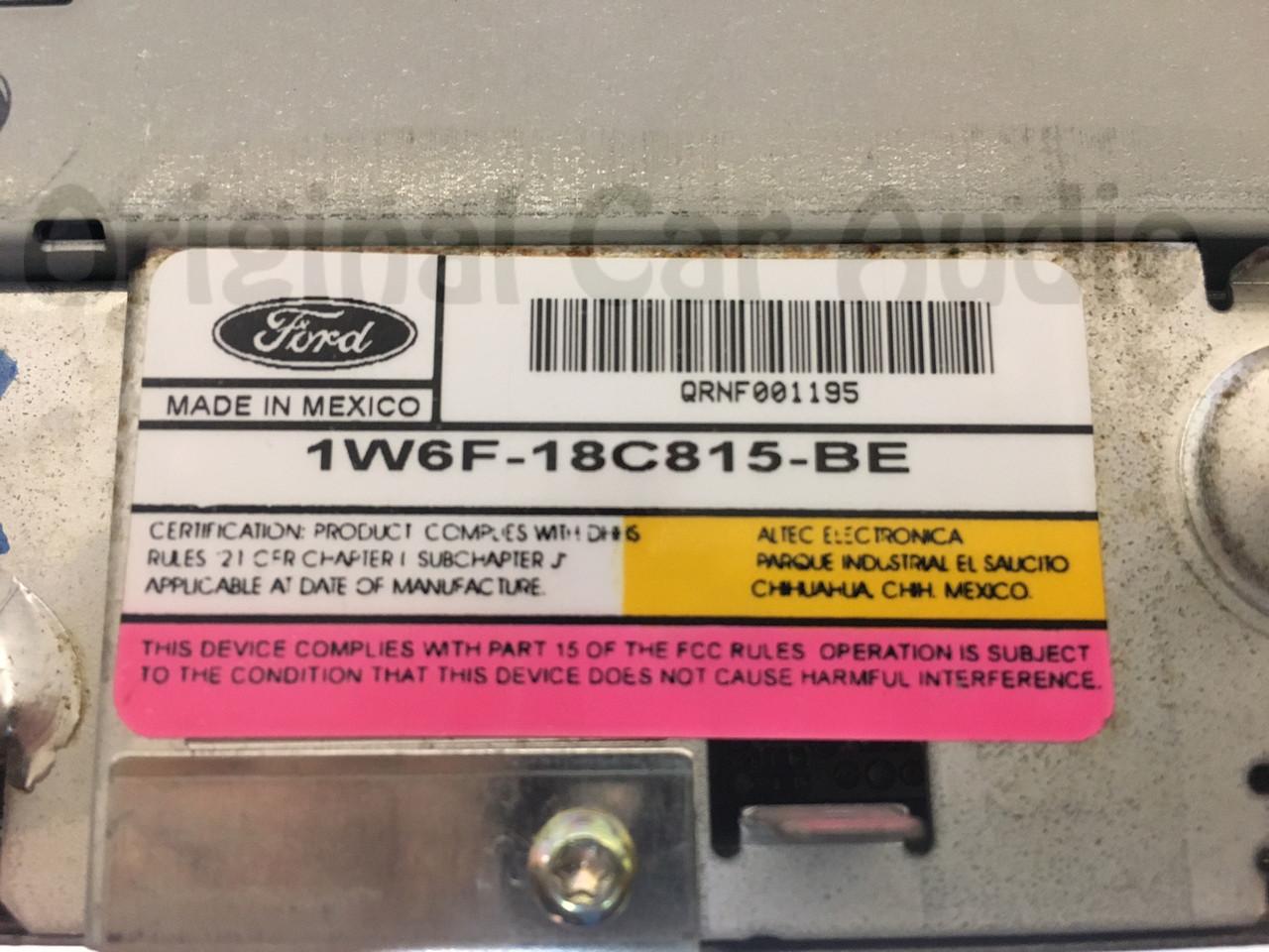 hight resolution of  2000 2006 ford thunderbird radio 6 cd changer