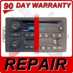 Gm Radio Cal Err Kawasaki Bayou 220 Battery Wiring Diagram Repair 2003 2004 2005 2006 Chevy Gmc Cadillac Cd 03 06 Envoy Yukon Sierra Player