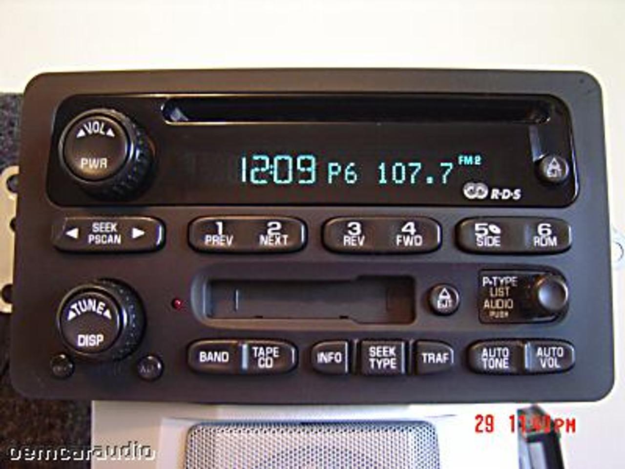 gm radio cal err cub cadet belt replacement diagram repair 2003 2004 2005 2006 chevy gmc cadillac cd 03 06 envoy yukon sierra player