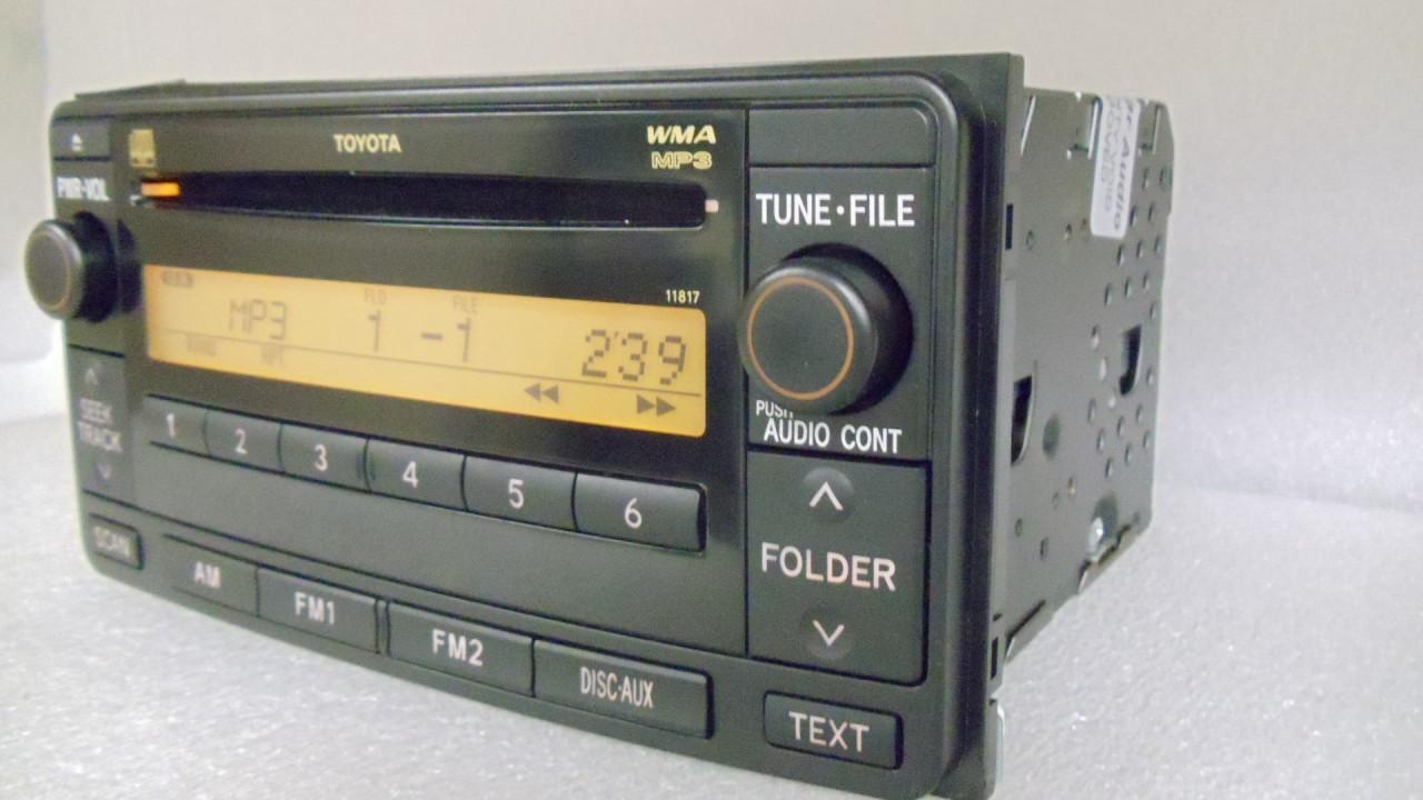 toyota fj cruiser aux mp3 cd radio 86120 35400 2007 2008 2009  [ 1280 x 720 Pixel ]