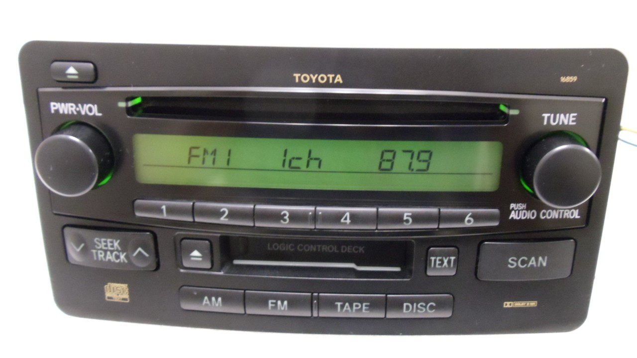 medium resolution of toyota tundra radio am fm cd player 86120 0c060 2005 2006