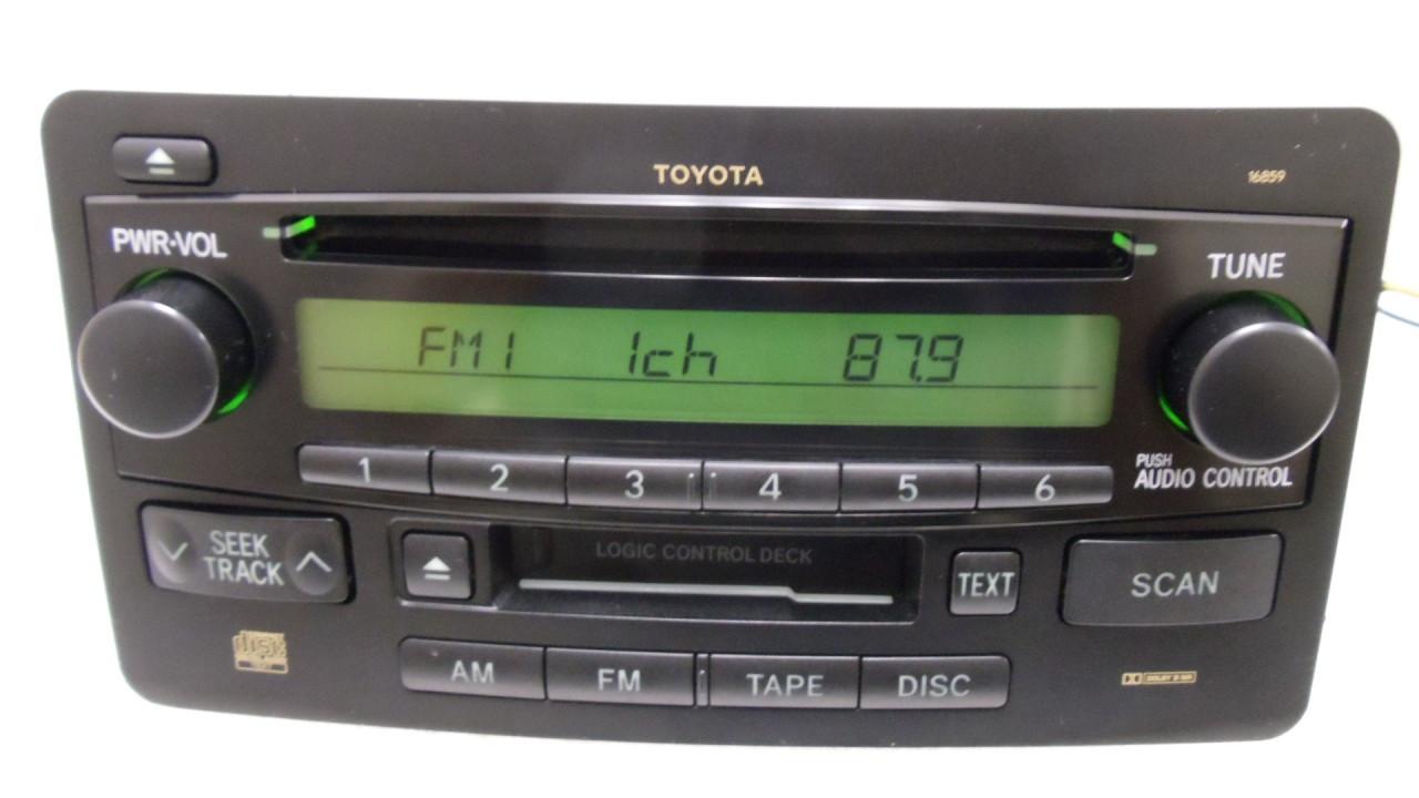 hight resolution of toyota tundra radio am fm cd player 86120 0c060 2005 2006