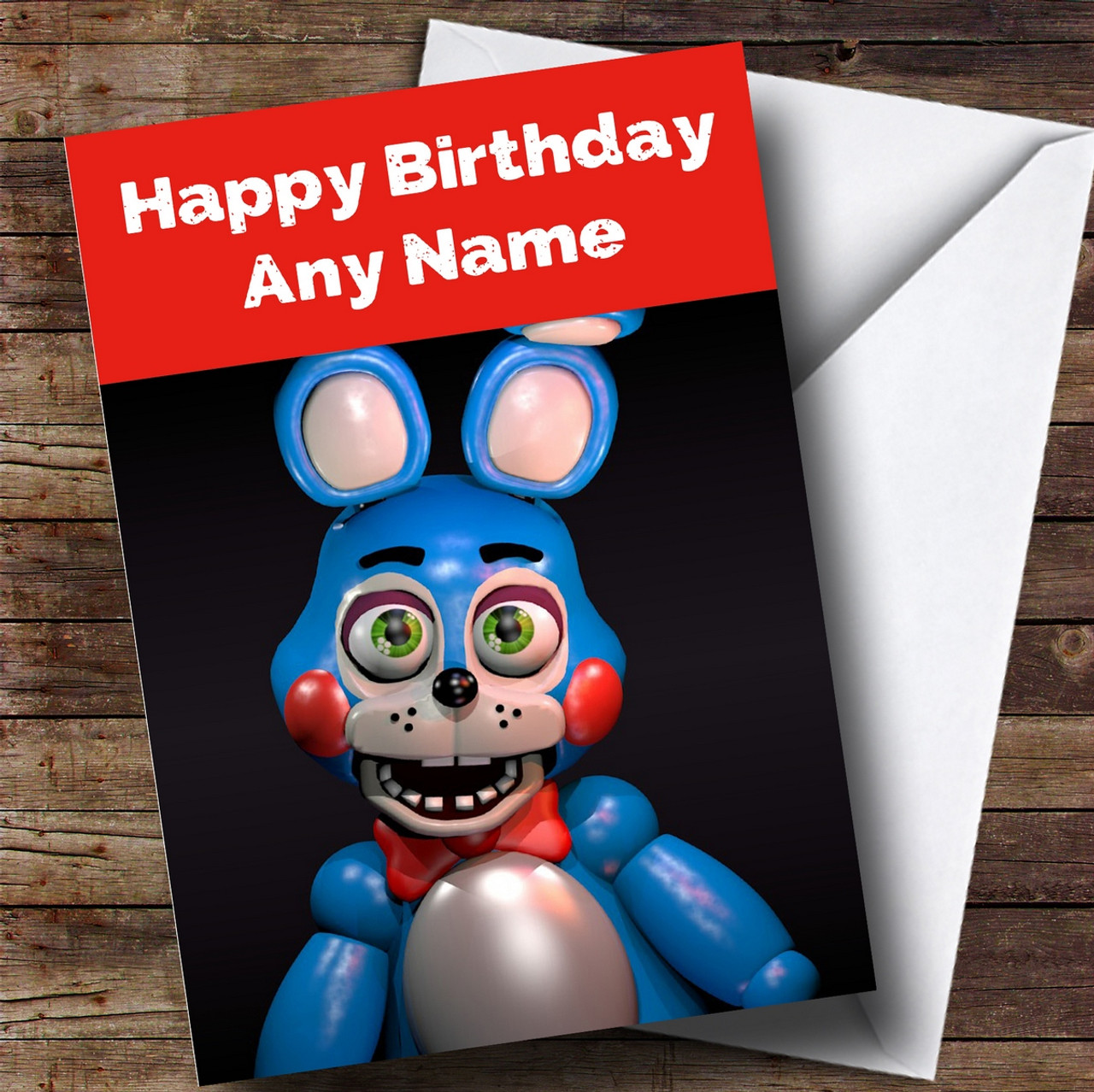 personalized fnaf five nights at freddy s toy bonnie children s birthday card