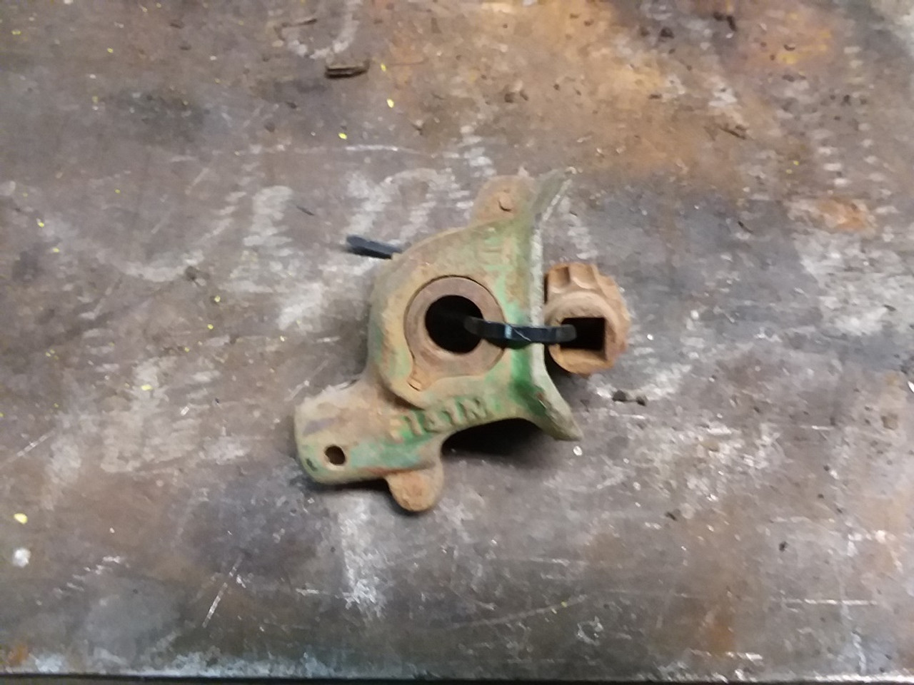 medium resolution of john deere van brunt grain cast steel grass seed cup assembly f141m f140m