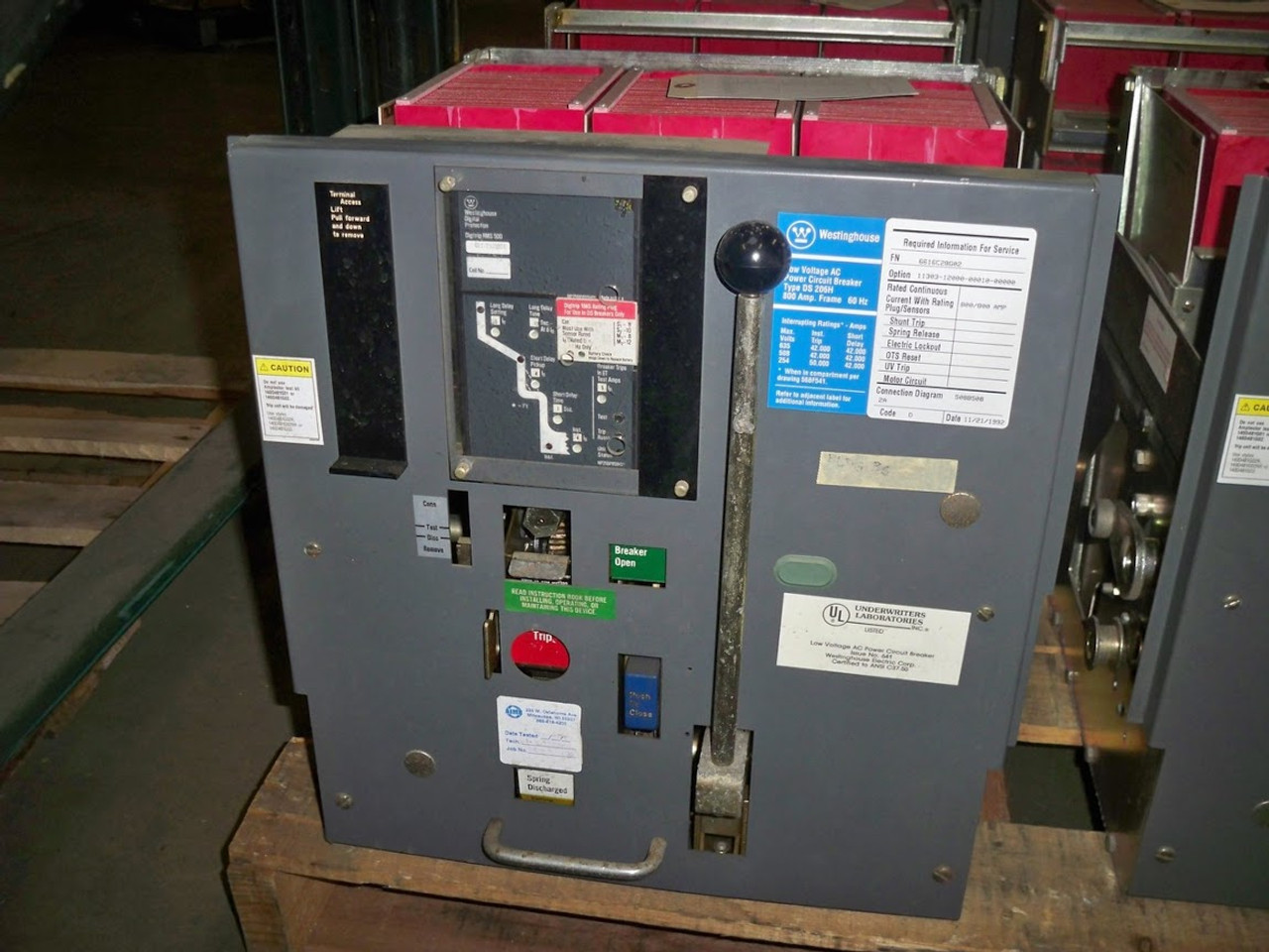 hight resolution of ds 206h westinghouse 800a mo do lsi air circuit breaker bullock breakers
