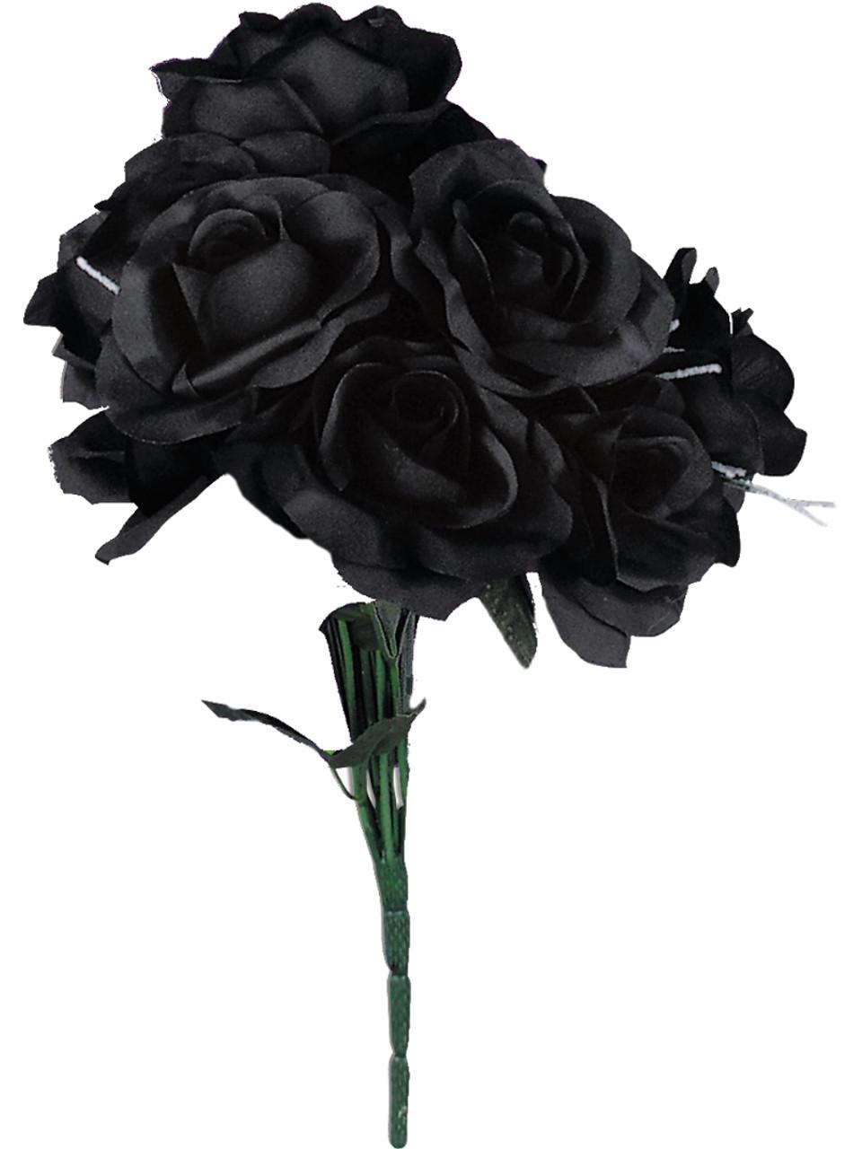 black gothic flower bouquet