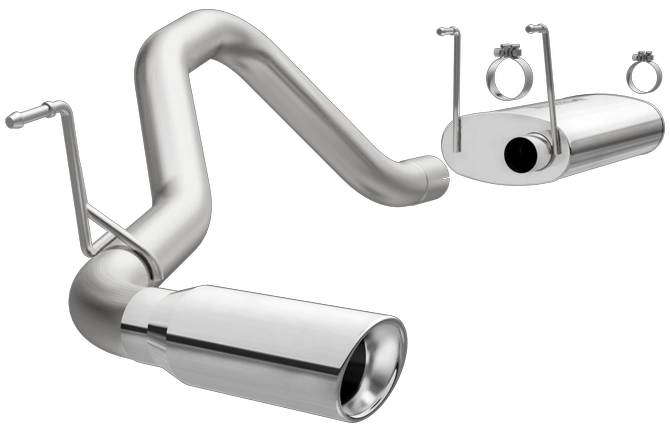 magnaflow 16386 dodge ram 1500 5 7l 3 single exit stainless cat back performance exhaust system