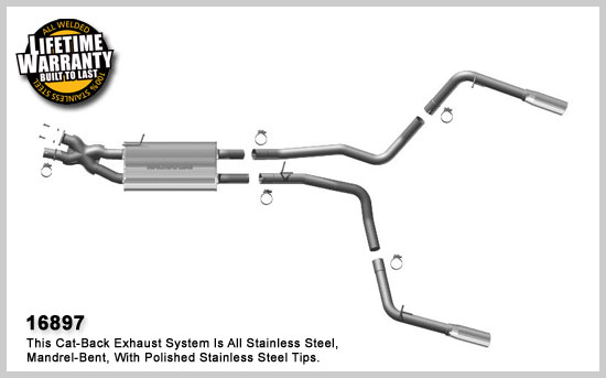 magnaflow 16897 land rover range rover sport 4 2l 4 4l stainless cat back dual performance exhaust system
