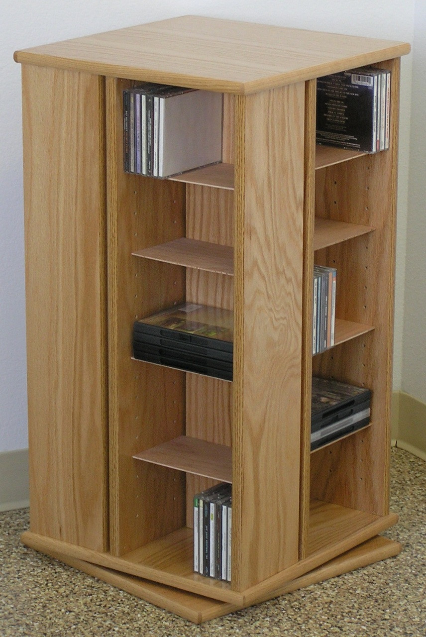 Stained Plywood Shelves