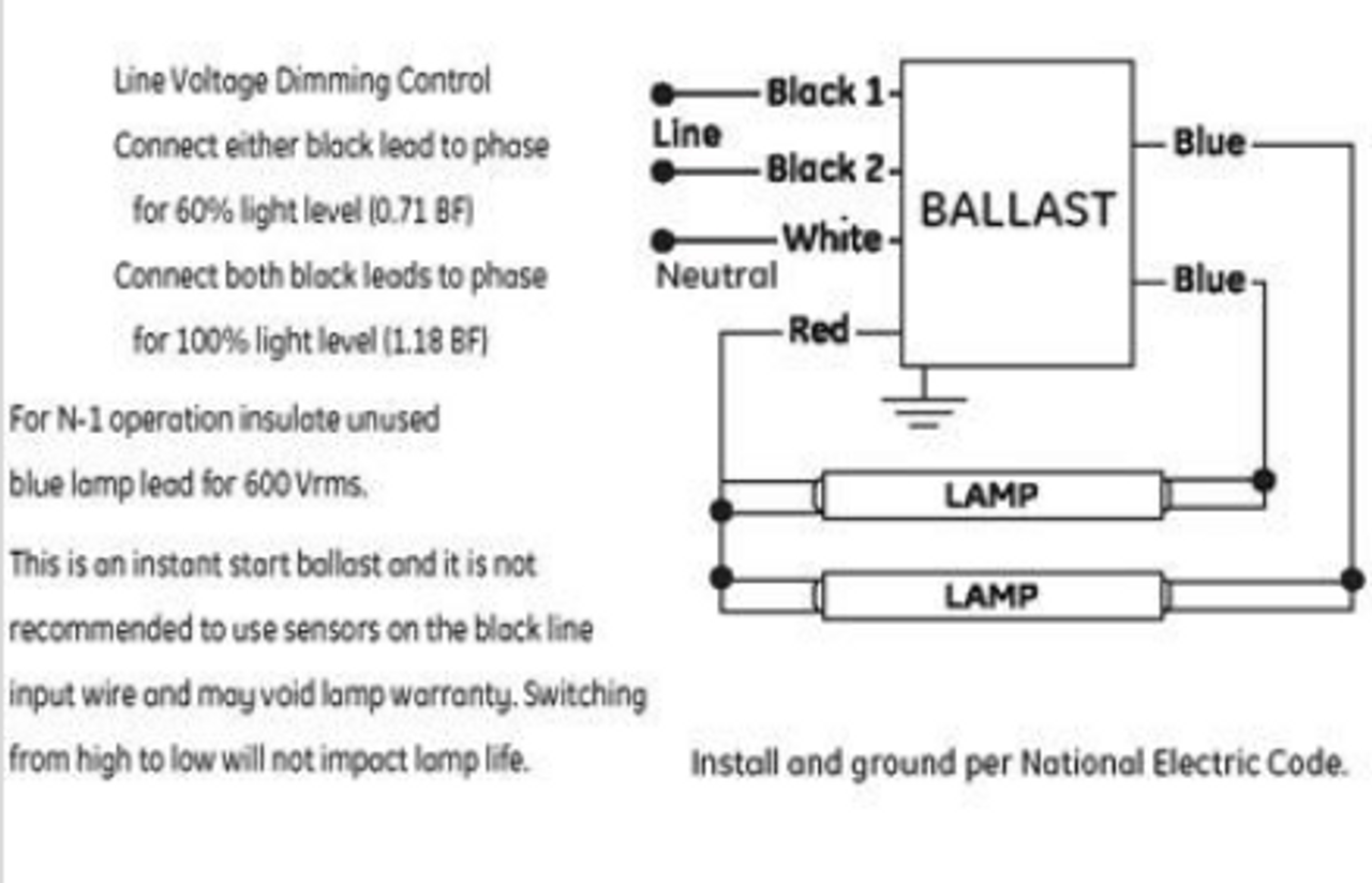 ge ultramax ballast wiring diagram ford f150 for radio ge232max90 s60 73233 t8 bi level dimming