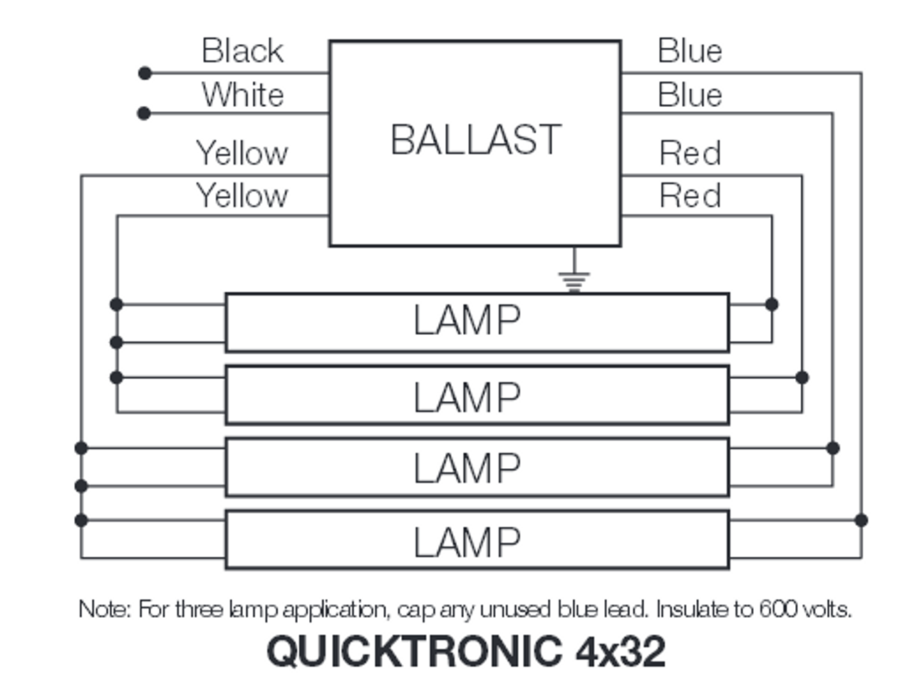 hight resolution of qtp4x32t8 unv isn sc sylvania 49947 electronic fluorescent ballast sylvania 49908 4 lamp ballast wiring diagram
