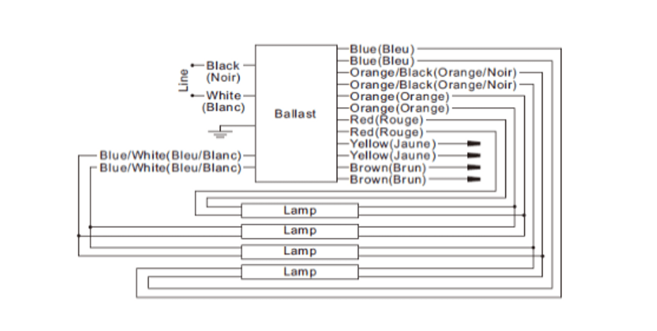 hight resolution of universal electronic sign esr2048 46 four lamp wiring