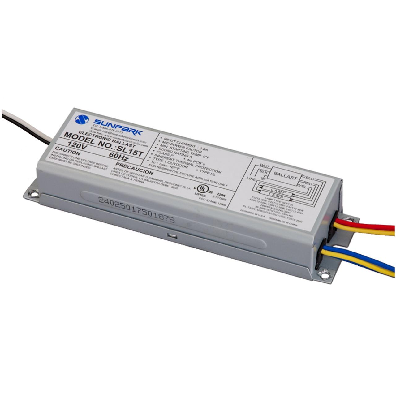 medium resolution of sunpark sl15t electronic replacement ballast sunpark sl15t ballast wiring diagram