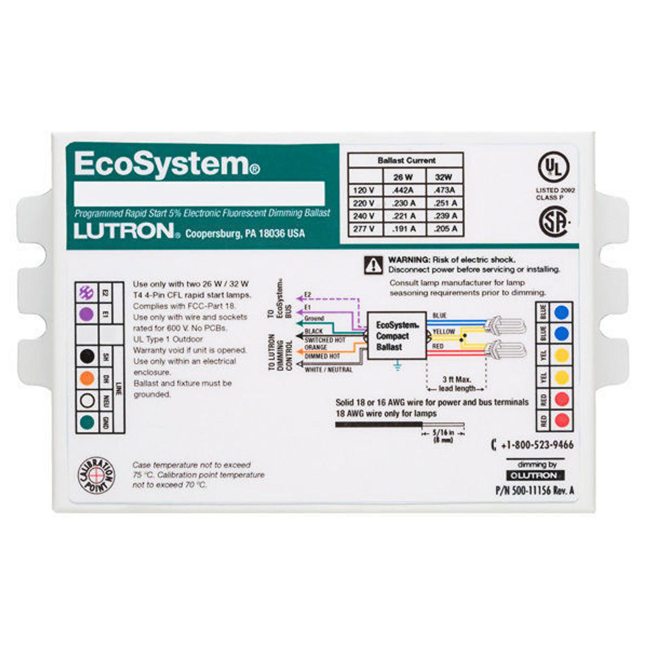 medium resolution of ec3dt442ku2 lutron ecosystem cfl dimming ballast lutron ecosystem dimming ballast wiring diagram ec3dt442ku2 lutron ecosystem